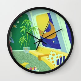 Retrofuturism in Space Wall Clock