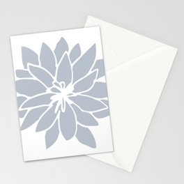 Flower Bluebell Blue on White Stationery Cards