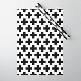 Swiss Cross B&W Wrapping Paper