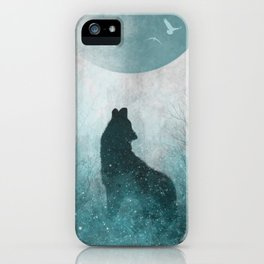 Howling Wolf: Space Silhouette iPhone Case