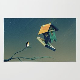 Flying Bird...house Rug