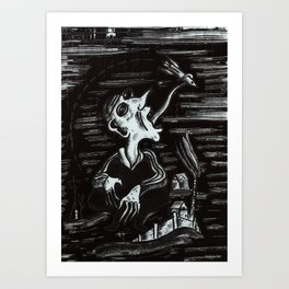 thoughts about the cosmos Art Print