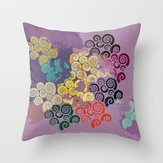 Scroll Shells Throw Pillow
