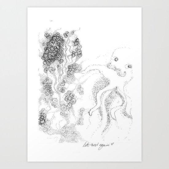 let´s twist again Art Print