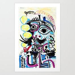 Pablo Picasso - Buste d'homme - Digital Remastered Edition Art Print