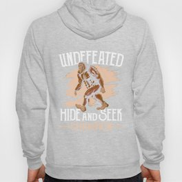 Funny Undefeated Hide And Seek Champion Bigfoot Tshirt Mens Hoody