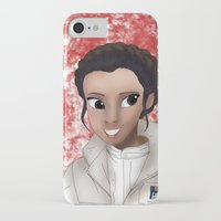 princess leia iPhone & iPod Cases featuring Leia by BellaG