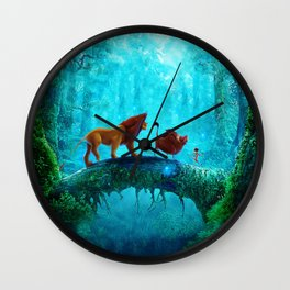 King Of Jungle Wall Clock
