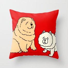 Chow Chow Dog Couple Throw Pillow