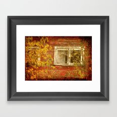 Window to the Past Framed Art Print