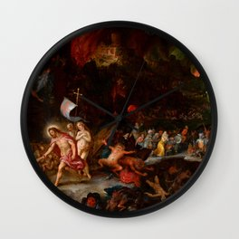 "Jan Brueghel The Elder & Hans Rottenhammer ""Christ's Descent into Limbo"" 1593 Wall Clock"