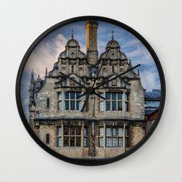 Trinity College Oxford University England Wall Clock