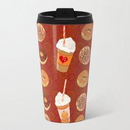hygge , holidays, Pumpkin Spice Latte and doughnuts, ginger, allspice, nutmeg, cloves, cinnamon, Travel Mug