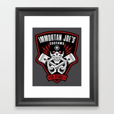 Immortan Joe's Customs Framed Art Print
