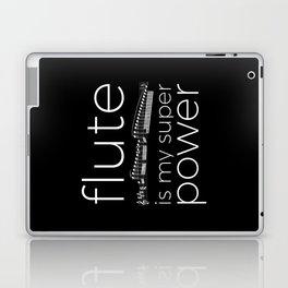 Flute is my super power (black) Laptop & iPad Skin