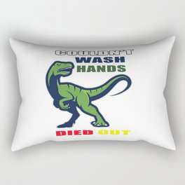 Couldn't wash hands died out T-Shirt Rectangular Pillow