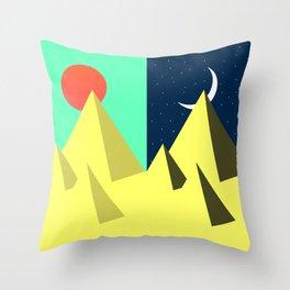 Day N Night Throw Pillow