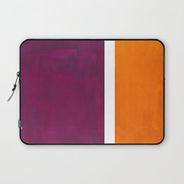 Purple Wine Yellow OchreMid Century Modern Abstract Minimalist Rothko Color Field Squares Laptop Sleeve
