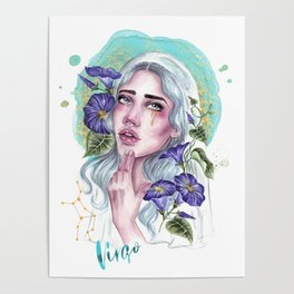 Virgo Zodiac Poster
