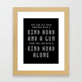 Al Capone Quote Framed Art Print