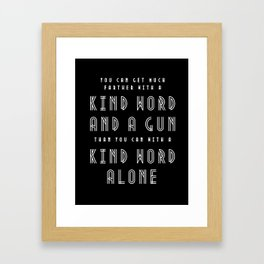 Al Capone Quote Framed Art Print