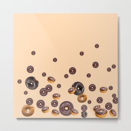 LOVE MY CHOCOLATE  DONUTS Metal Print