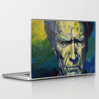 clint eastwood Laptop & iPad Skins featuring Clint Eastwood by Boaz