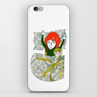 tina crespo iPhone & iPod Skins featuring Tina&Ape by eva vasari