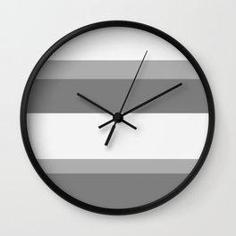 Strips - gray. Wall Clock
