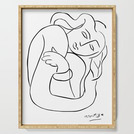 Henri Matisse - PASIPHAE PLATE 2 - Woman With Arms Crossed Artwork Reproduction, Prints, Tshirts, Po Serving Tray