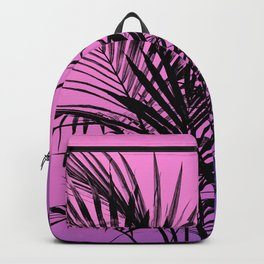 Palm tree in black with purplish gradient Backpack