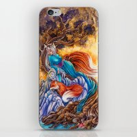 kitsune iPhone & iPod Skins featuring Kitsune by Nemeth Alina