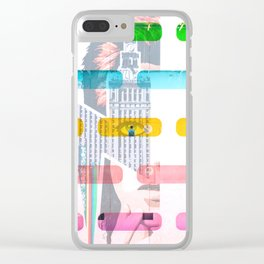 Colorful Wall and Hallways Clear iPhone Case