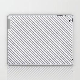 Lilac Gray Stripe Laptop & iPad Skin