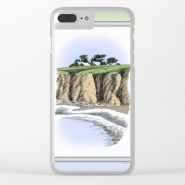 BEACH BLUFF FARM COLORED CHARCOAL DRAWING Clear iPhone Case