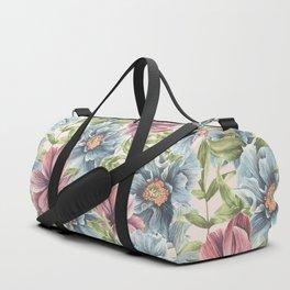 Hibiscus Vintage Pattern Duffle Bag