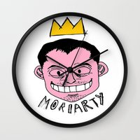 moriarty Wall Clocks featuring Moriarty by Hypermeganeko