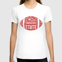 ohio state T-shirts featuring Ohio State Football by Kasi Turpin