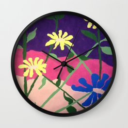 Colorful Flower Abstract Wall Clock