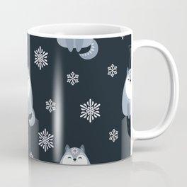 Winter Fox And Snowflakes Coffee Mug