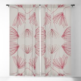 Red silk flowers Blackout Curtain