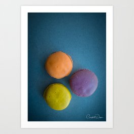 The Art of Food Macarons Funky Art Print