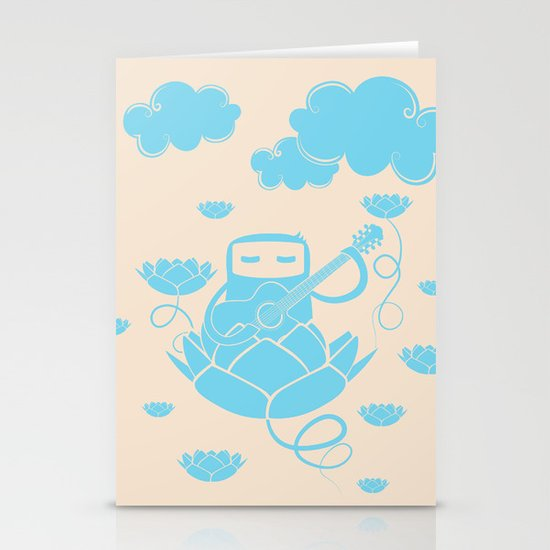 Lotus&Guitar Stationery Cards