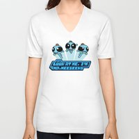 powerpuff girls V-neck T-shirts featuring Powerpuff Meeseeks by BovaArt