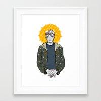 kieren walker Framed Art Prints featuring Kieren Walker by timeflashh