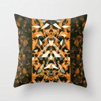 predator Throw Pillows featuring Predator by Ornaart