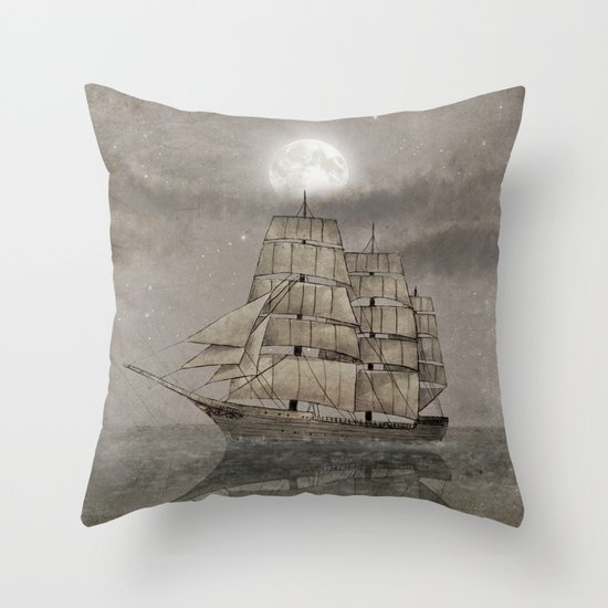 Night Journey  Throw Pillow
