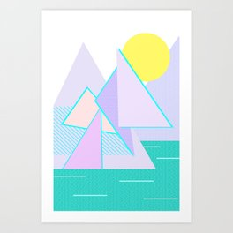 Hello Mountains - Lavender Hills Art Print