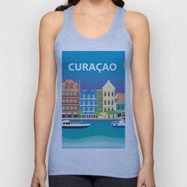 Curacao - Skyline Illustration by Loose Petals Unisex Tank Top