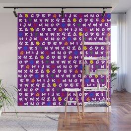 Abc's purple! Wall Mural